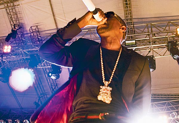 Hip-hop superstar Kanye West provided the biggest and brashest performance of the festival, despite his set being marred by sound quality issues
