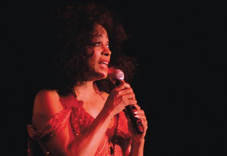Protec supplied digital projection equipment for soul singer Diana Ross' recent performance in Dubai.