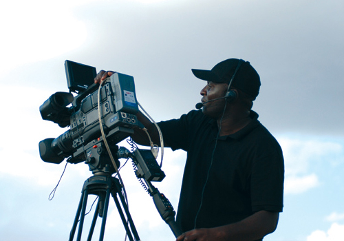 The crew used FS-5 recorders to capture content for this shoot.