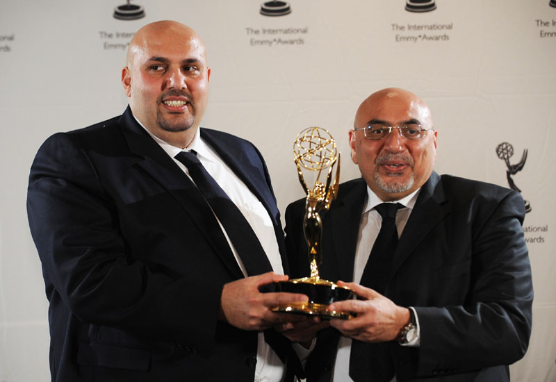 Talal and Adnan Awamleh of Jordan's Arab Telemedia, the first Arab firm to win an Emmy.