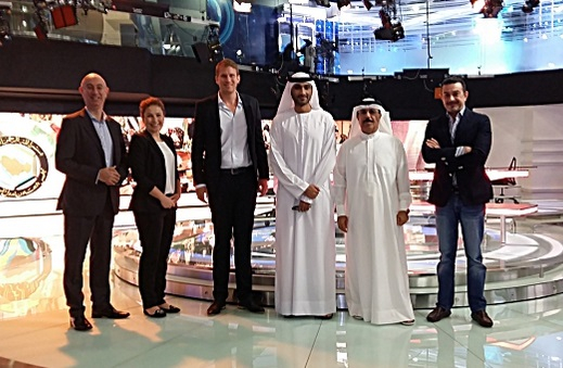 DMI and Eurovision executives at the signing.