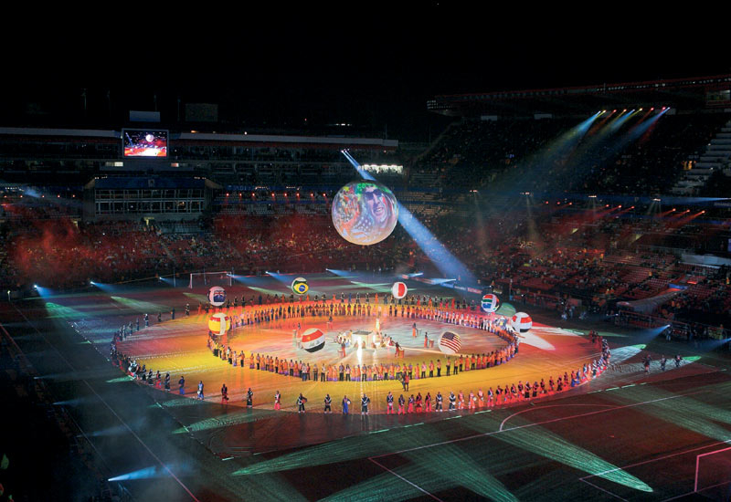 The Confederation Cup closing ceremony was staged in June.