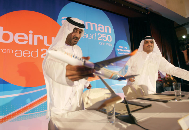 Flydubai chairman HH Sheikh Ahmed bin Saeed al-Maktoum (pictured left) at the launch.