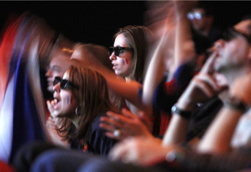 Sports fans at a recent 3D screening in France.