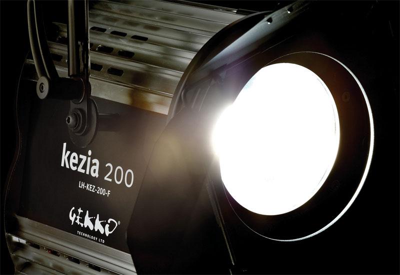 IBC 2010 sees the launch of Gekko's new kezia 200F white-optimised spot lamp.