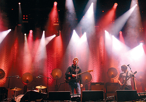 Arctic Monkeys' perform on the Pyramid Stage at this year's Glastonbury Festival.