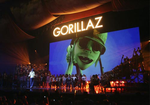 Barco Folsom technology was used in the live production of the 2006 Brit Awards.