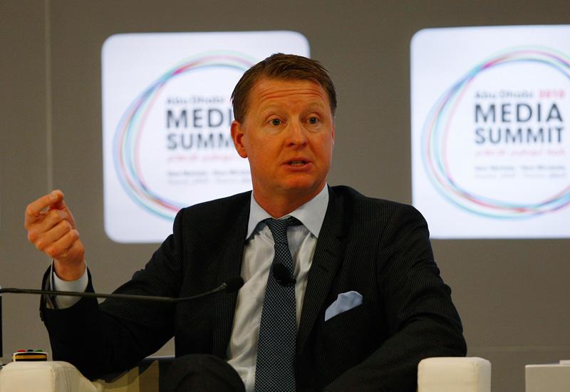 Ericsson CEO Hans Vestburg speaking at the Abu Dhabi Media Summit earlier this year.