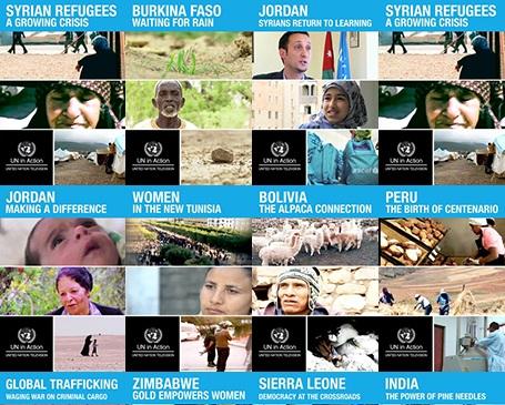 The documentaries focus on the UN's work around the world.