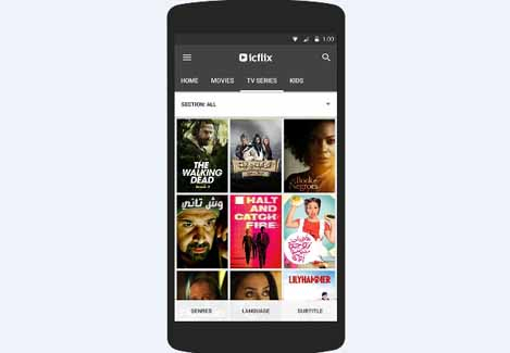 Android app, Icflix, Streaming, News, Delivery & Transmission