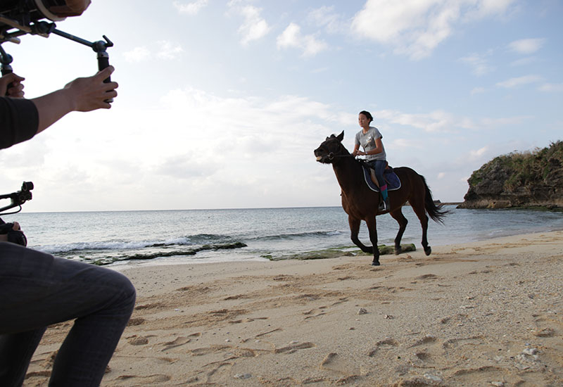One of the Japanese subjects described her ikigai - her passion for horse riding. This made for perfect footage for the Filmmaster crew.