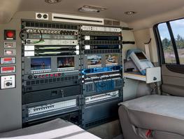 Inside one of the new OB vans.