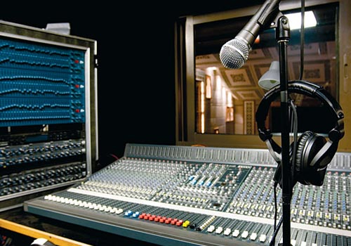 The theatre's control room is equipped with a Crest XR-M mixing desk.