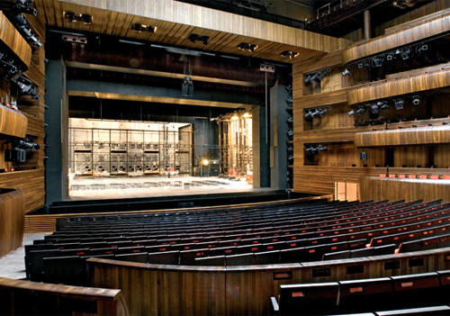 The opera house boasts 1200 seats, all with unobstructed views.
