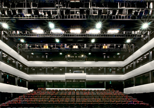 The opera house also features a second studio theatre.