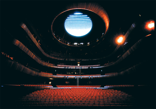 The main auditorium is spectacular in its design and features a 8.5 tonne LED chandelier.