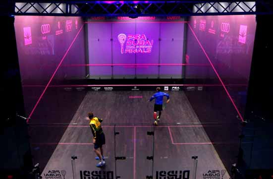 MOOV brought Augmented Reality graphics to the PSA finals in Dubai.