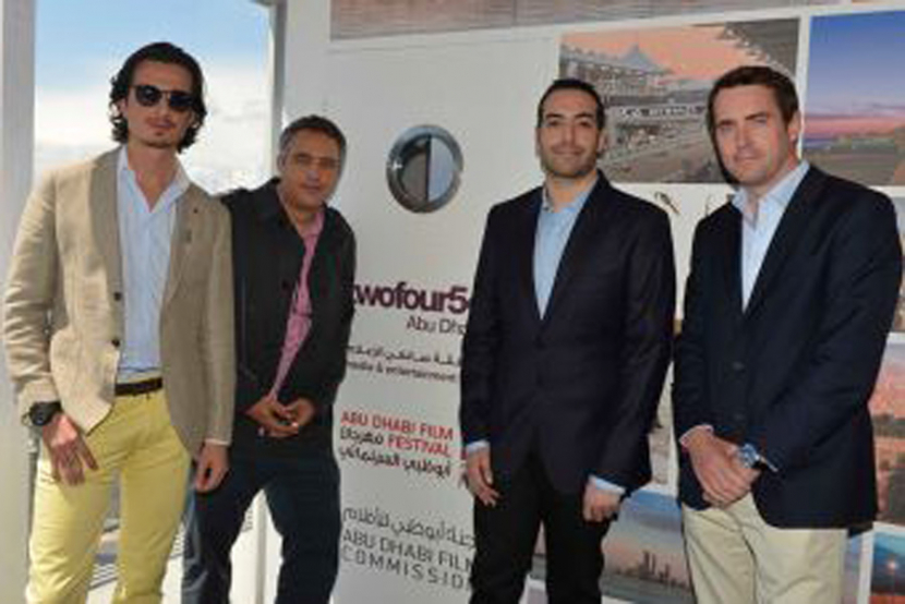 Ali Mostafa (left) is collaborating with of Arab film industry's brightest stars for his latest venture.