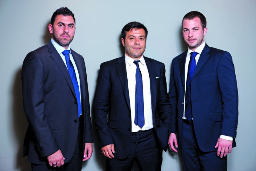 L-R: Fadi Zouein, MENA business development director,  Andrea Rarizzani, Group CEO and  Ahmed Schaefer, VP acqusitions and strategic partnerships.