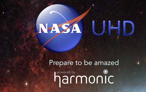Harmonic demos HDR UHD NASA content, NASA TV UHD channel, UHD, Ultra HD, Delivery & Transmission