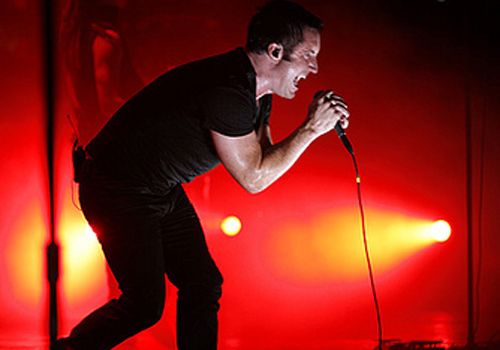 The Lights in the Sky tour allows Trent Reznor to turn the stage into his own creative playground. (photo courtesy of Rob Sheridan)