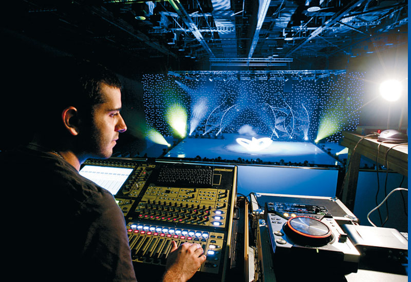 A Digico DS digital mixer controlls the audio.