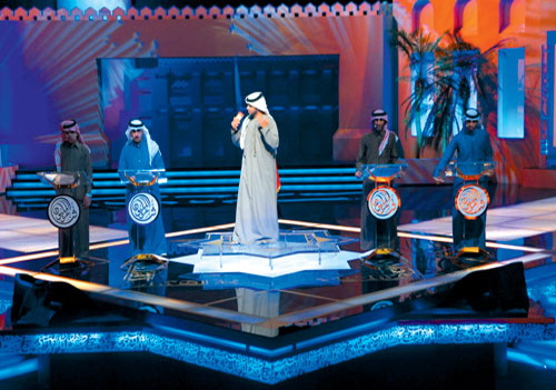 The colour-scheme and graphics on the stage and set can be changed accordingly to match the tone of each segment of the show. The ability to change th