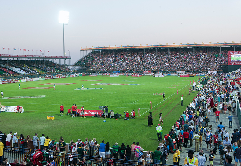 The Dubai Rugby Sevens 2014.