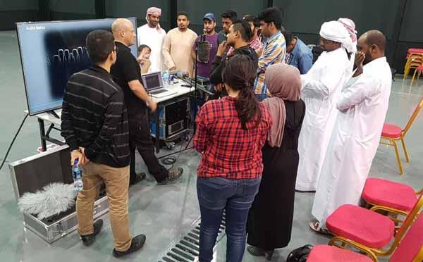 Sennheiser conducting the 'Sound Academy' event in Dubai.