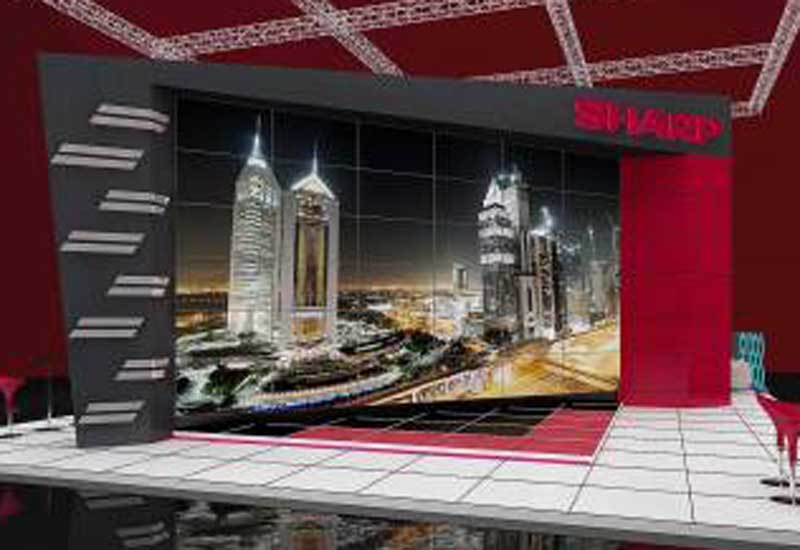 The video wall will measure a huge 360 inches diagonally.