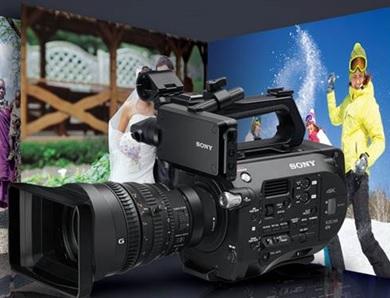 The Sony PXW-FS7 4K camera.