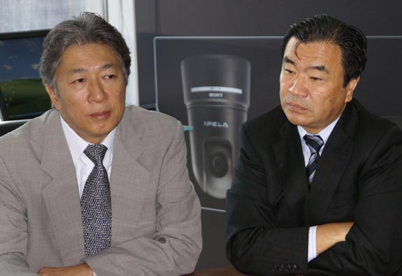 Ohnishi (l) and Onoue visited Dubai from Sony's HQ in Japan to review Middle East clients' needs.