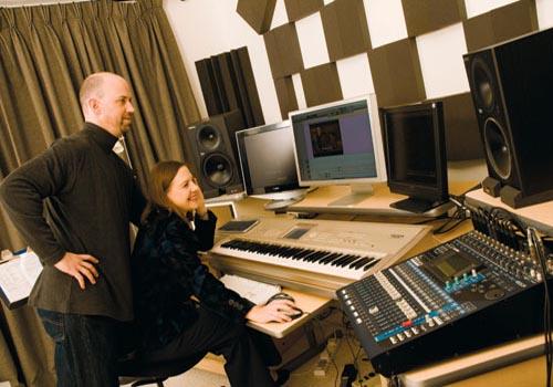 Paul Hopkins and Amanda Falkenberg, founders of Music HF studios.