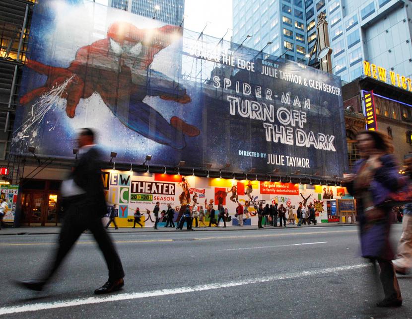 Spiderman: turn off the Dark, resumed on Broadway on Thursday.