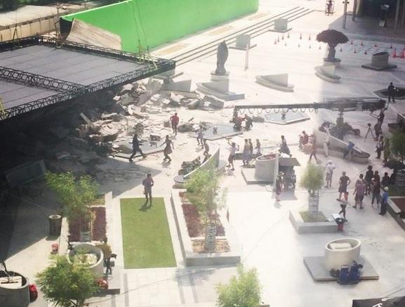 Instagram user Beckyooi posted this photo of the Star Trek shoot on Instagram.