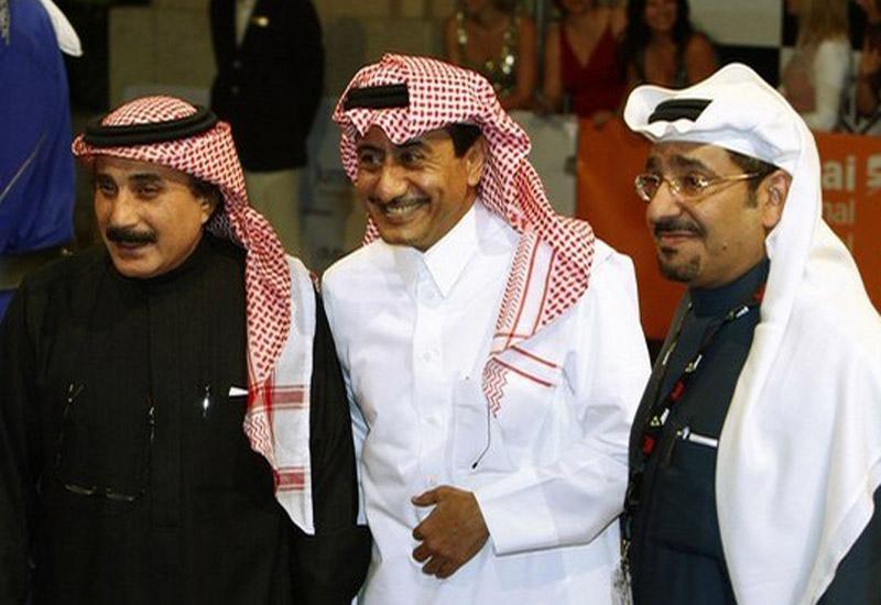 Abdel Khalek Al-Ghanem (L), director of the Saudi program with actors Nasir Al Gasabi (C) and Abdallah Al-Sadhan.