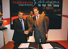 Riyad Al Mubarak, CEO of ADMC and Patrick Montliaud of Thomson inked the deal at IBC.