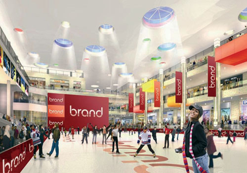 Around 1,000 screens will be housed throughout the mall.