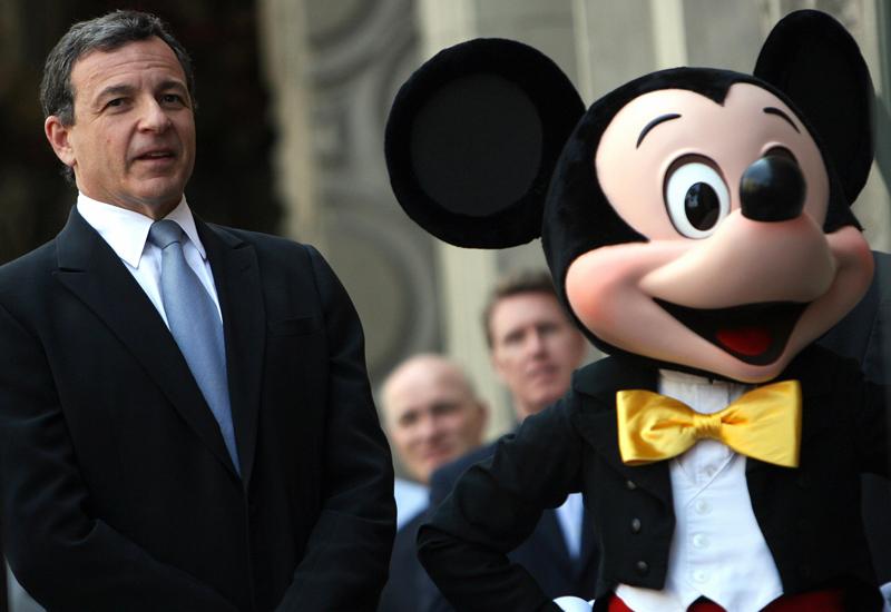 Disney CEO Robert Iger (left).