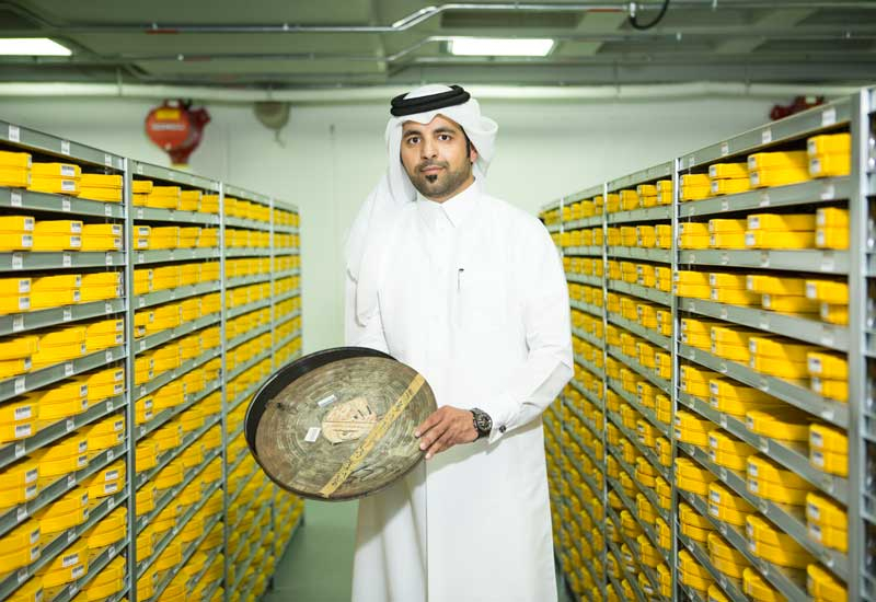 Abdullah M. Alyazeedi, project manager, old films archive at Qatar's Private Engineering Office.