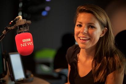 BBC Minute presenter, Olivia Le Poidevin