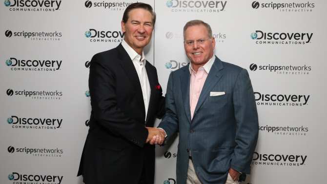 David Zaslav with Ken Lowe(SOURCE:AP IMAGES FOR DISCOVERY COMMUNICATIONS)