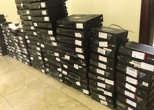 Illegal hardware seized by Kuwaiti authorities.