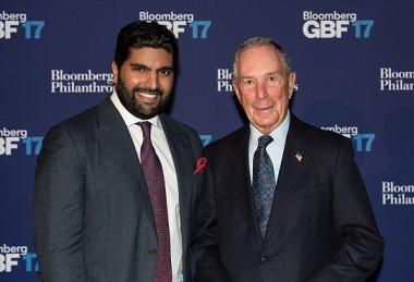 His Highness Prince Bader bin Abdullah Al Saud and Mike Bloomberg