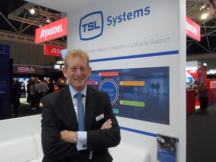 Roger Henderson at IBC in 2016.