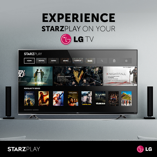 LG Electronics, Starz Play, Video on demand, News, Consumer-facing Tech
