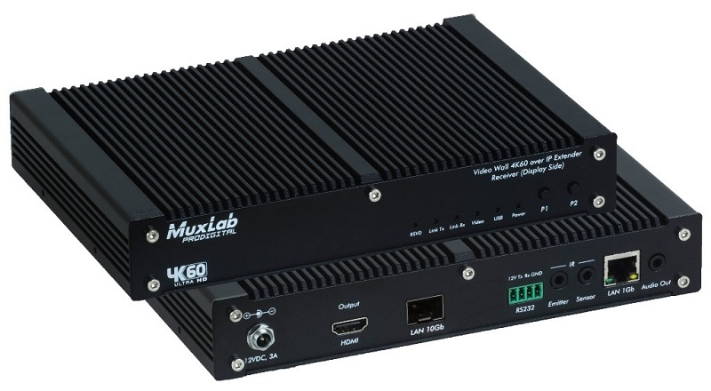 MuxLab AV over IP 4K/60 Uncompressed Extender, Fiber