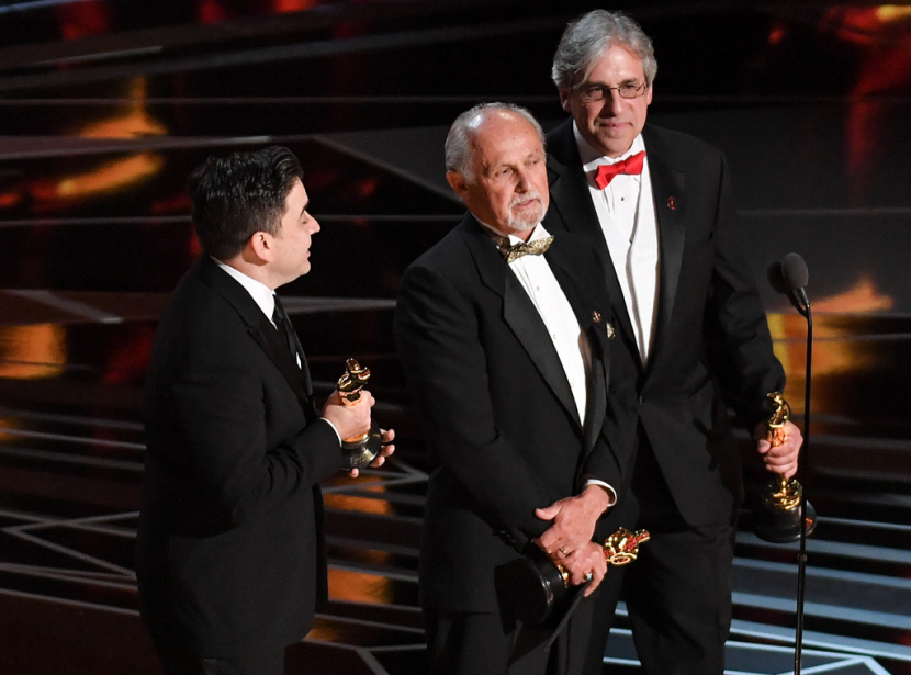 The Sound Mixing Award went to Mark Weingarten, Gregg Landaker, and Gary A. Rizzo who used Avid Pro Tools for Dunkirk