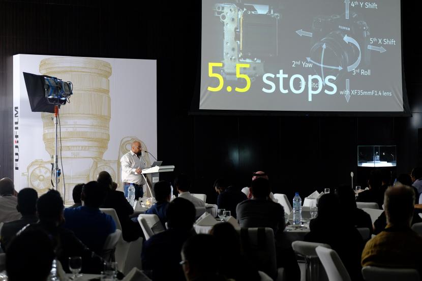 FUJIFILM X-H1 launch presentation at Dubai