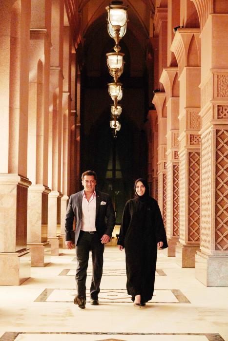 H.E. Maryam Eid AlMheiri and Salman Khan